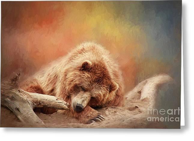 Bearly Asleep Greeting Card