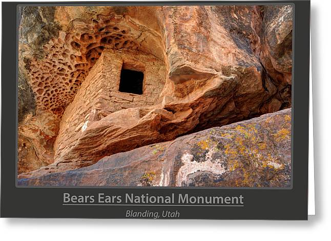 Bears Ears National Monument - Anasazi Ruin Greeting Card by Gary Whitton
