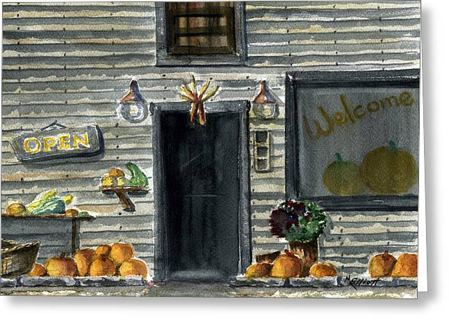 Bears Mill Greeting Card by Marsha Elliott