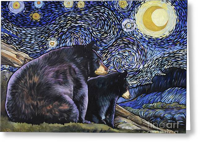 Beary Starry Nights Too Greeting Card