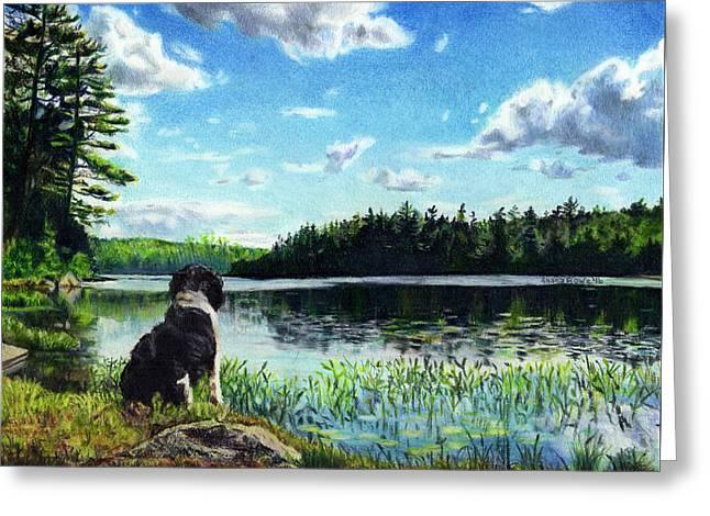 Beasley On Black Pond Greeting Card