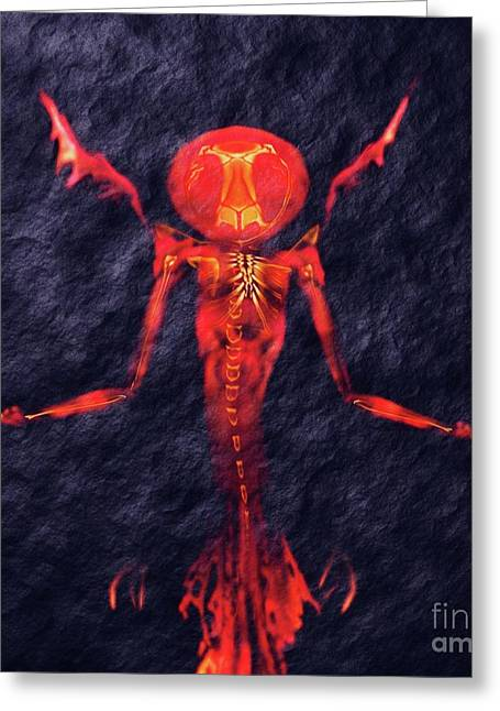 Beast Of Hell By Sarah Kirk Greeting Card