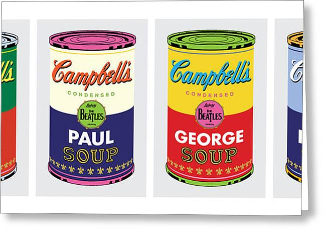 Beatle Soup Cans Greeting Card