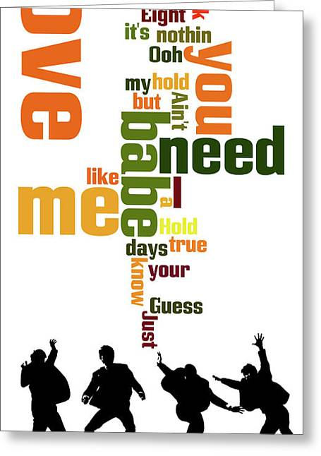 Beatles. Can You Guess The Name Of The Song? Greeting Card by Pablo Franchi