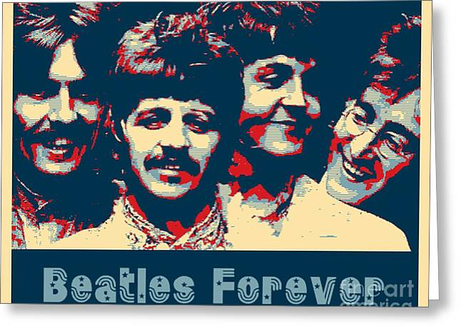 Beatles Forever Greeting Card