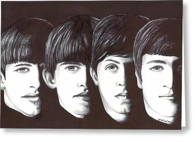 Beatles Greeting Card by Julian  B