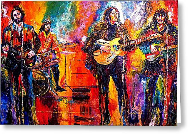 Beatles Last Concert On The Roof Greeting Card by Leland Castro