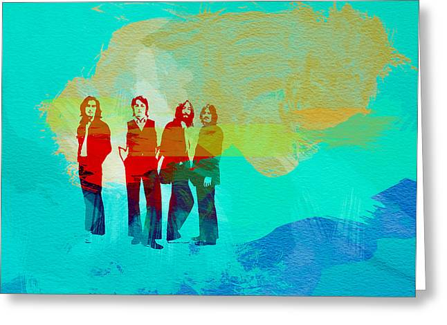 Beatles Paintings Greeting Cards - Beatles Greeting Card by Naxart Studio