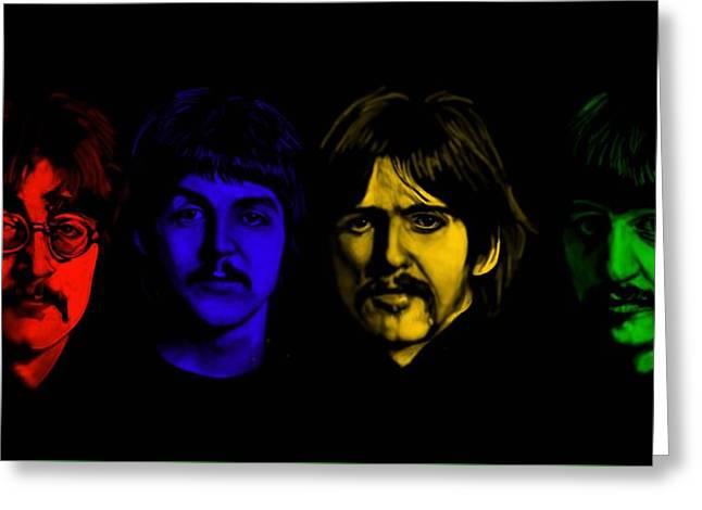 Beatles No 9 Greeting Card by Brian Broadway