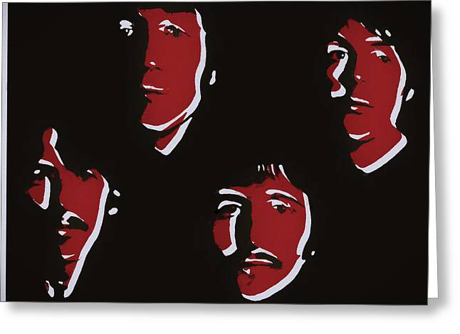 Beatles Pop Art  Greeting Card by Dan Sproul