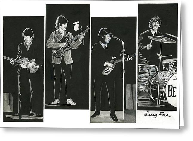 Beatles With Instruments Greeting Card