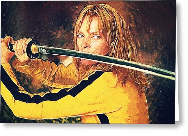 Beatrix Kiddo - Kill Bill Greeting Card by Taylan Apukovska