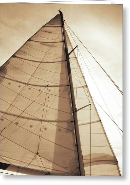 Beaufort Sails 1 Greeting Card by Alan Hausenflock