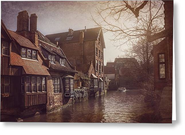 Beauteous Bruges Greeting Card by Carol Japp