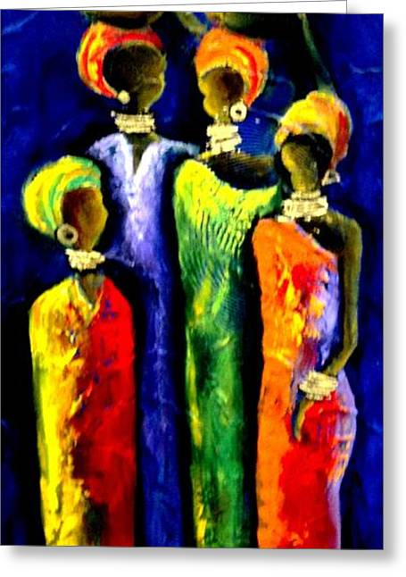 Ethnical Greeting Cards - Beautiful Africa3 Greeting Card by Marietjie Henning