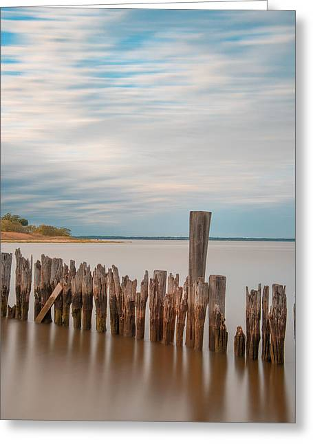Greeting Card featuring the photograph Beautiful Aging Pilings In Keyport by Gary Slawsky