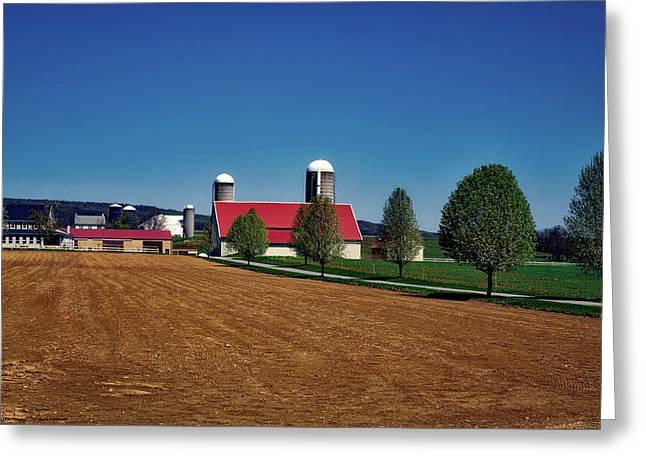 Beautiful Amish Farm Greeting Card