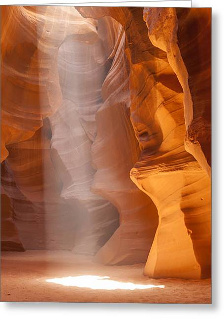 Beautiful Antelope Canyon Panoramic View Greeting Card