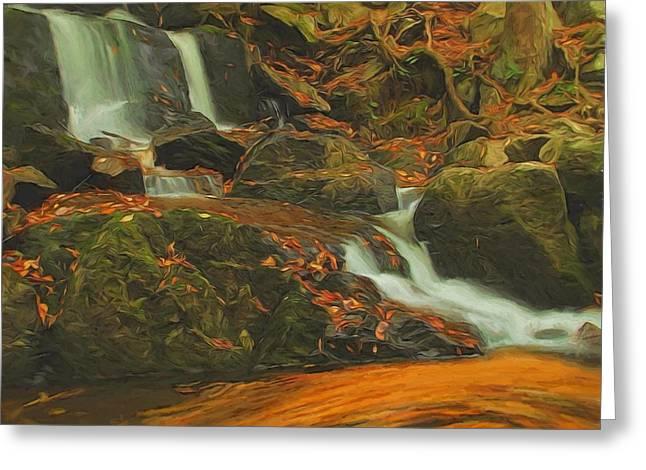 Beautiful Autumn Scene Greeting Card by Dan Sproul