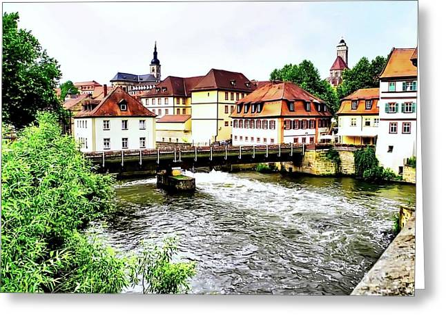 Beautiful Bamberg On The River Greeting Card by Kirsten Giving