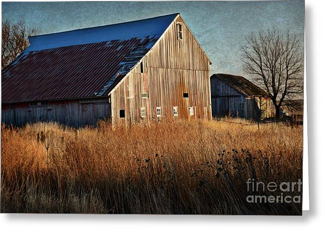 Beautiful Barn In Autumn  Greeting Card