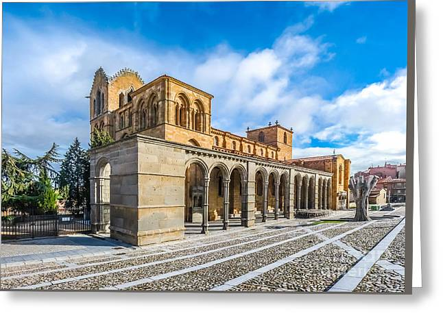 Beautiful Basilica De San Vicente, Avila, Castilla Y Leon, Spain Greeting Card by JR Photography