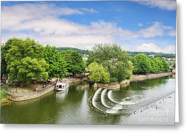 Beautiful Bath And The River Avon Greeting Card