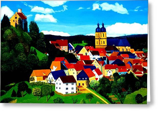 Beautiful Bavarian Village Greeting Card