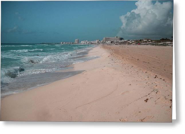 Beautiful Beach In Cancun, Mexico Greeting Card