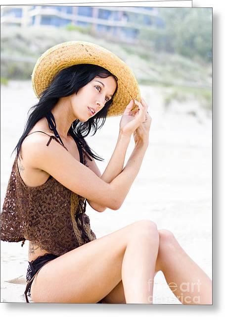 Beautiful Beach Wanderer Greeting Card by Jorgo Photography - Wall Art Gallery