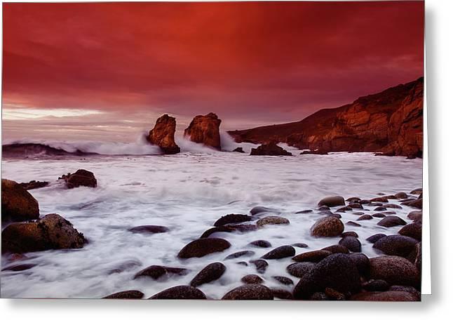 Beautiful Big Sur Sunset Greeting Card