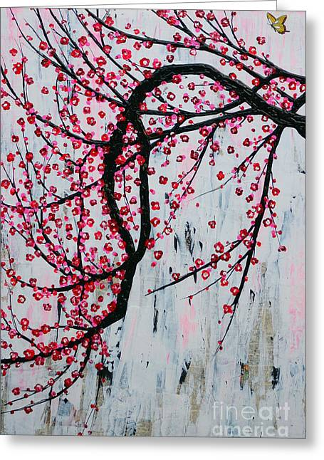 Greeting Card featuring the painting Beautiful Blossoms by Natalie Briney