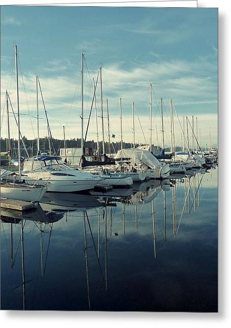 Beautiful Blue Marina Greeting Card by Patricia Strand