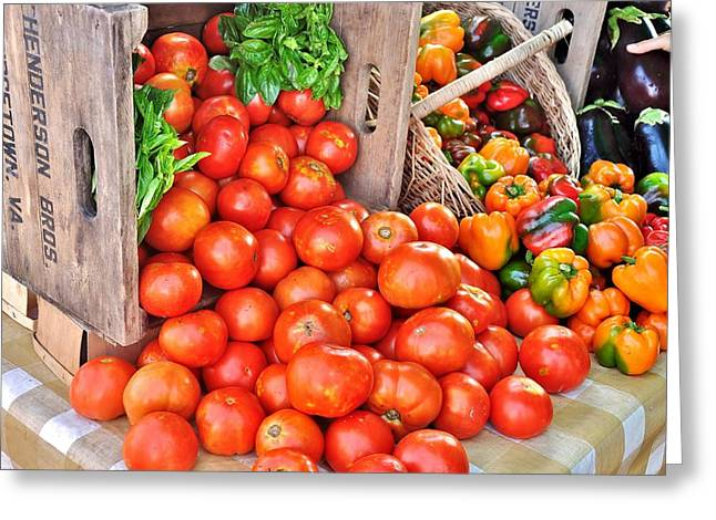 The Bountiful Harvest At The Farmer's Market Greeting Card