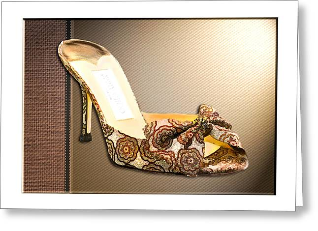 Beautiful Brocade Slippers For A Ball Greeting Card by Elaine Plesser