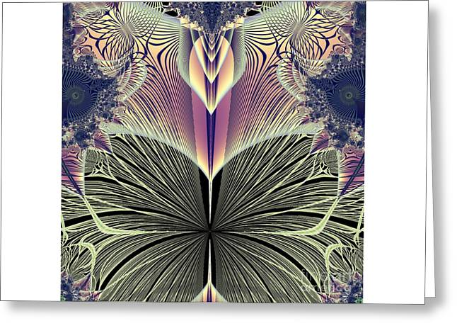 Beautiful Butterfly Ballet Fractal Greeting Card by Rose Santuci-Sofranko