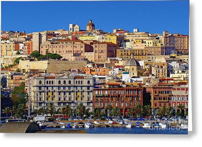 Beautiful Cagliari Greeting Card by Sue Melvin