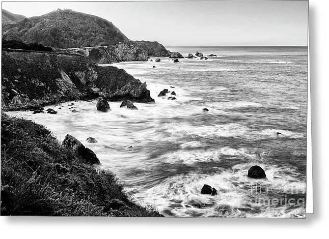 Beautiful Coastal View Of Big Sur In California. Greeting Card by Jamie Pham