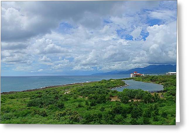 Greeting Card featuring the photograph Beautiful Coastline Of Southern Taiwan by Yali Shi