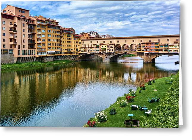 Beautiful Colors Surround Ponte Vecchio Greeting Card