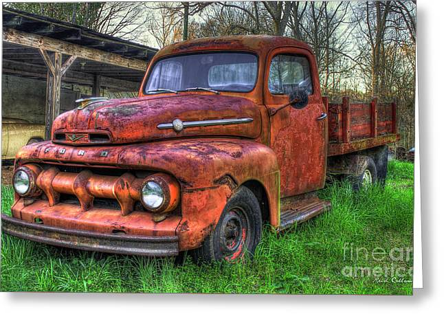 Beautiful Corrosion 1951 Ford Flat Bed Pickup Truck Art Greeting Card by Reid Callaway
