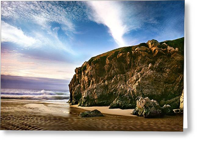 Beautiful Cove Greeting Card by Edward Mendes