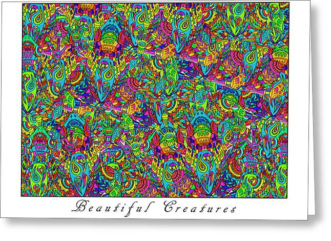 Beautiful Creatures Greeting Card by Betsy Knapp