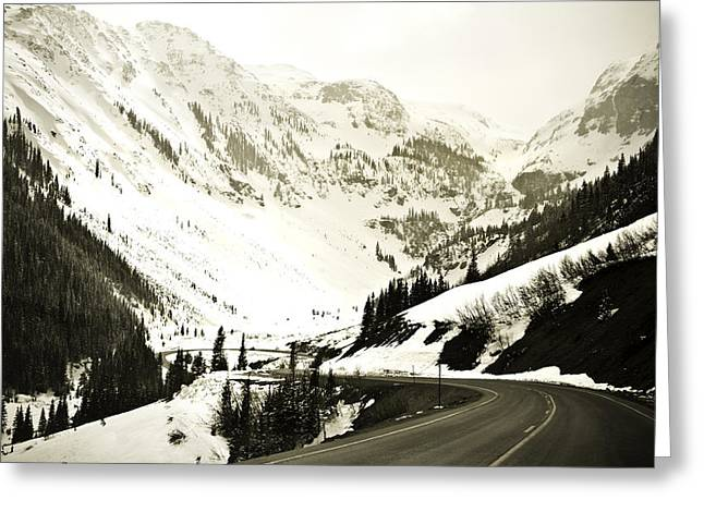 Beautiful Curving Drive Through The Mountains Greeting Card by Marilyn Hunt