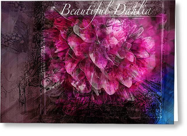 Beautiful Dahlia Greeting Card by Kari Nanstad