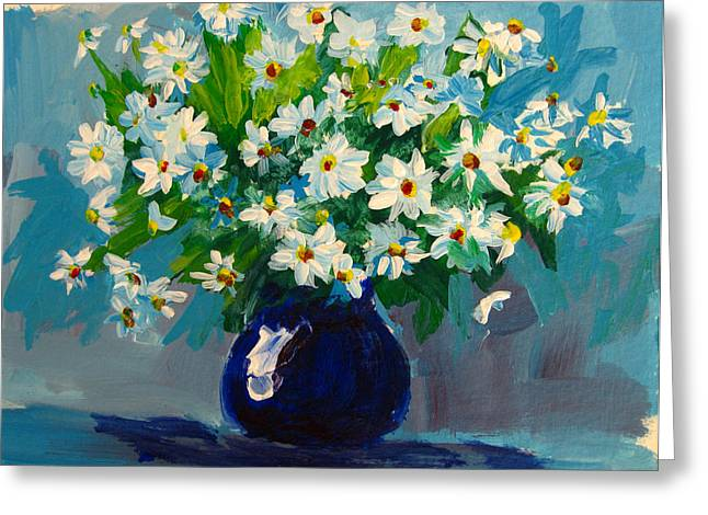 Interior Still Life Greeting Cards - Beautiful Daisies  Greeting Card by Patricia Awapara