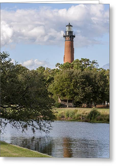 Beautiful Day At Currituck Beach Lighthouse Greeting Card