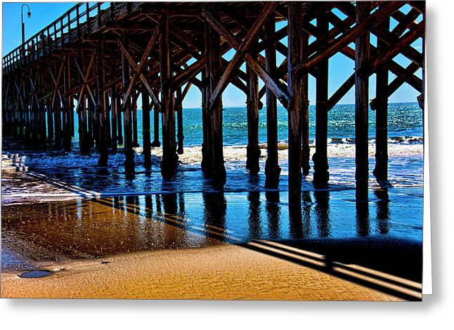 Beautiful Day At The Pier Greeting Card by Gina Cordova