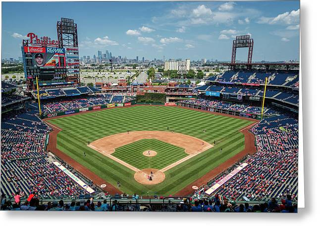 Beautiful Day For A Ballgame In Philly Greeting Card