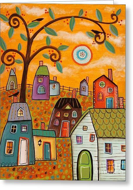 Beautiful Day Greeting Card by Karla Gerard